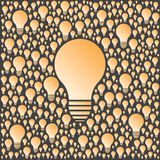 Background with vector light bulbs. Creativity and ideas concept. Royalty Free Stock Photos