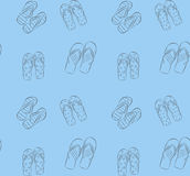Background vector pattern with flip-flops Stock Photography