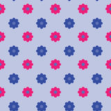 Background vector pattern with flowers Stock Image