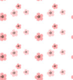 Background vector pattern with sakura flowers Stock Photo