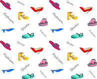 Background vector pattern with shoes Stock Photography