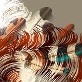 Background with vector realistic colorful feathers Stock Photography