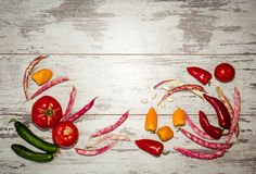 Background of vegetables above view Royalty Free Stock Photo