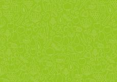 Background of vegetables. Green food pattern. stock illustration