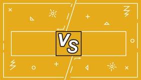 Background Versus Screen battle, Vector Illustration.Business confrontation screen with frames and vs logo illustration. Battle ba. Nner match, vs letters royalty free illustration