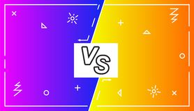 Background Versus Screen battle, Vector Illustration.Business confrontation screen with frames and vs logo illustration. Battle. Background Versus Screen battle vector illustration