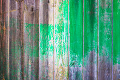Background - vertical wood board with green stain. Background - old vertical wood board with green stain royalty free stock photos