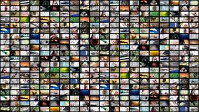 Video wall media streaming. Background of video wall with media streaming royalty free stock images