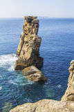 Background view of liffs in the peninsulae Cabo Carvoeiro Stock Images