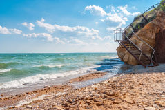 Background with View of Odessa gulf, Ukraine. Stock Photo