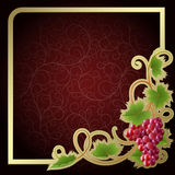 Background with vine royalty free illustration