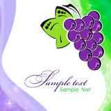 Background with vine. Abstract background with bunch of grapes Royalty Free Stock Image