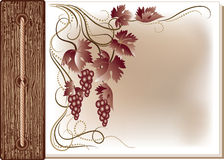 Background with vine ornament Stock Photo