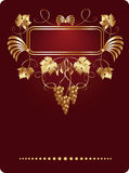 Background with vine ornament Royalty Free Stock Image