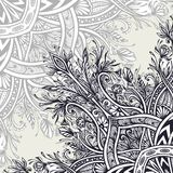 Background  from Vintage Abstract floral ornament black on white. Background from Vintage Abstract floral ornament black on white in Zen tangle style made by Stock Image