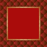 Background. Vintage background with golden frame Royalty Free Stock Photo