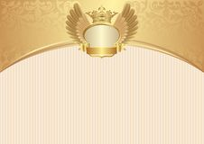 Background. Vintage background with royal frame Royalty Free Stock Images