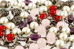 Background of vintage beads. Royalty Free Stock Photos