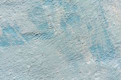 Background vintage blue wall. Texture of old paint stock photography