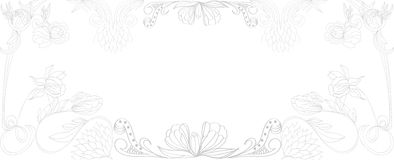 Background with vintage border. Universal template for greeting card, web page, background Royalty Free Stock Photography