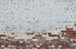 Background of vintage brick wall with  stucco Royalty Free Stock Photography