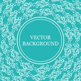 Background with vintage decor, white and blue color Royalty Free Stock Photography