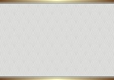 Background. Vintage background with decorative pattern golden border Royalty Free Stock Photo