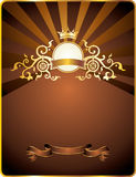Background with vintage emblem . Royalty Free Stock Photography