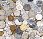 Background of vintage European coins. Stock Images