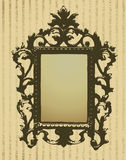 Background with vintage frame Stock Images