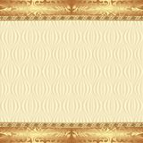 Background. Vintage background with golden ornaments Stock Photo