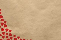 Background with vintage hearts Stock Photos