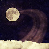 Background-3. Vintage moon sky background in old Royalty Free Stock Images