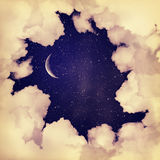 Background-2. Vintage moon sky background old style Royalty Free Stock Photography