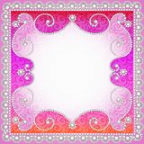 Background with vintage ornamented with pearls Stock Images