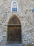 Gothic style church door from 1823 Stock Image