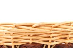 Background vintage weave wicker basket. Stock Image