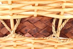 Background vintage weave wicker basket Royalty Free Stock Photography