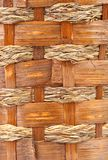 Background of vintage weave wicker basket Stock Photo
