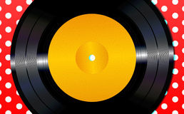 Background with a vinyl disc Stock Photography