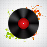 Background with vinyl record Stock Photography