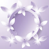 Background with violet butterflies. Stock Photography