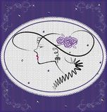 background violet lady Royalty Free Stock Photo