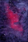 Background violet space with Milky Way Stock Photos