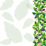 Background with violets Royalty Free Stock Image