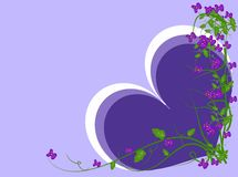 Background with violets Stock Images
