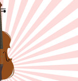 Background with violin. Wooden violin from which rays diverge Royalty Free Stock Images