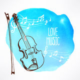 Background with violin - 1 Stock Photos
