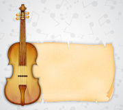 Background with violin Stock Images