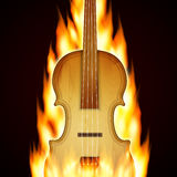 Background with violin Royalty Free Stock Photography